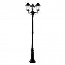 Alex Outdoor Post Lamp - 3 Light Black Ht 220