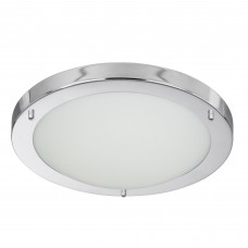 Chrome Led Flush Fitting, Opal Glass, 12W