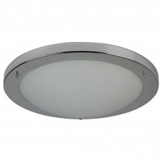 Chrome Led Flush Fitting, Opal Glass, 20W