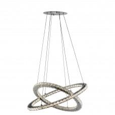 Clover - Led Ceiling (2 X Rings), Chrome, Clear Crystal Glass
