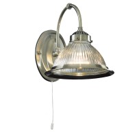 American Diner - 1 Light Wall Bracket, Antique Brass, Clear Glass