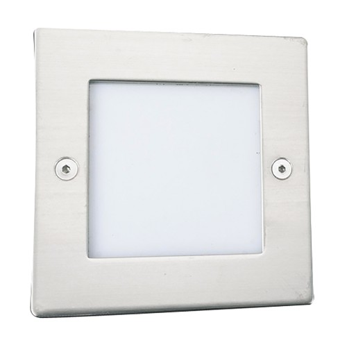 Ankle led recessed indoor outdoor light square chrome white led ankle led recessed indoor outdoor light square chrome mozeypictures Choice Image