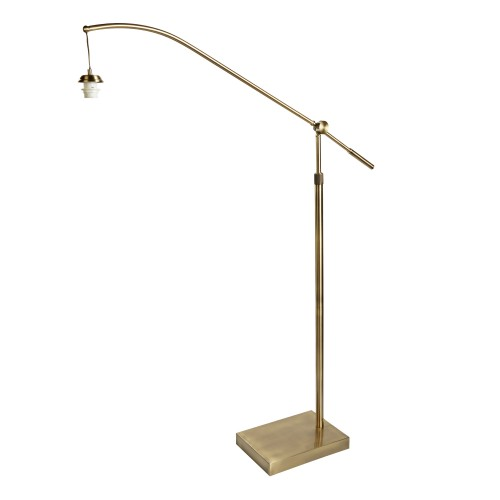 Arm Xlframe Only - Arc Arm Floor Lamp, Antique Brass
