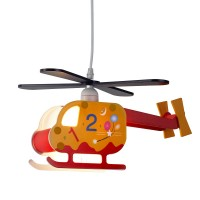 Novelty Childrens Helicopter Pendant, Numbered Design