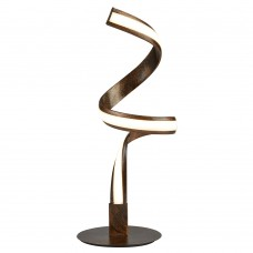 Ribbon Led Twist Table Lamp, Rustic Black/Gold