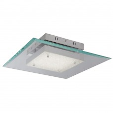 Lexi Square Led Glass Pendant, 16W, Chrome