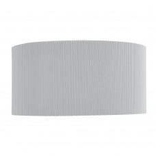 Drum Pleat - 2 Light Wall Bracket, Silver Pleated Shade, Frosted Glass Diffuser