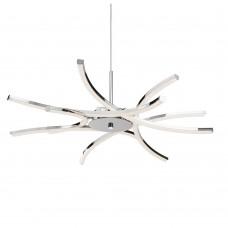 Bardot 6 Light Led Ceiling Pendant, Curved Chrome Arms