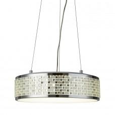 Baltimore Led 8 Light Ceiling Pendant, Chrome, Tile Effect Trim