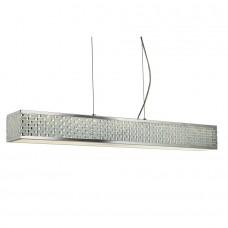Baltimore Led 10 Light Ceiling Rectangle Pendant, Chrome, Tile Effect Trim
