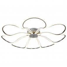 Foliage 8 Light Led Large Petal Ceiling Flush, Chrome