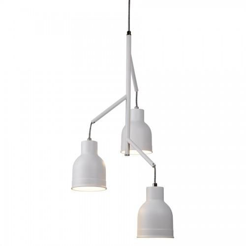 miami 3 light ceiling multi drop sanded white