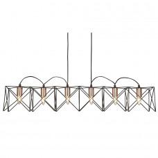 Anthena 6  Light Black Frame Pendant With Copper Detail