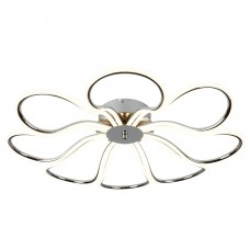 Foliage 8 Light Led Medium Petal Ceiling Flush, Chrome