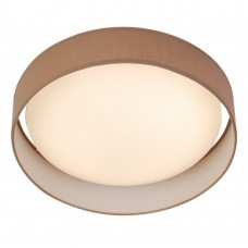 Modern 1 Light Led Flush Ceiling Light, Acrylic, Brown Shade
