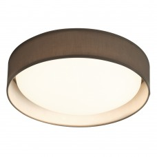 Modern 1 Light Led Flush Ceiling Light, Acrylic, Grey Shade